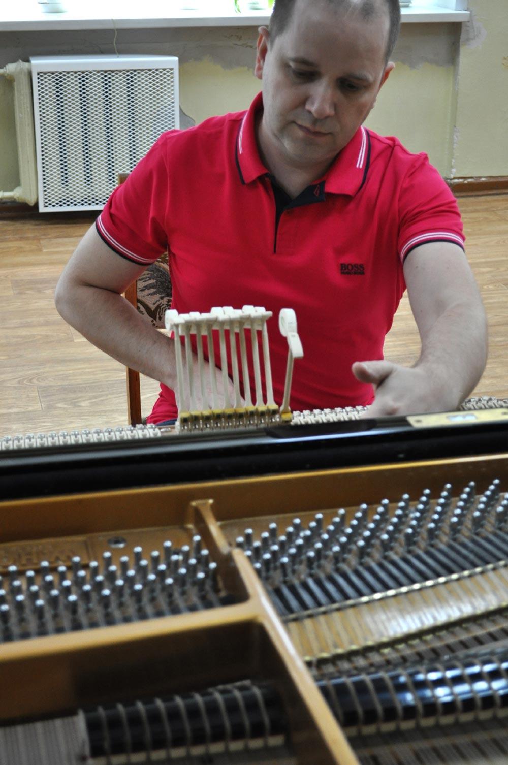 Регулировка механики рояля