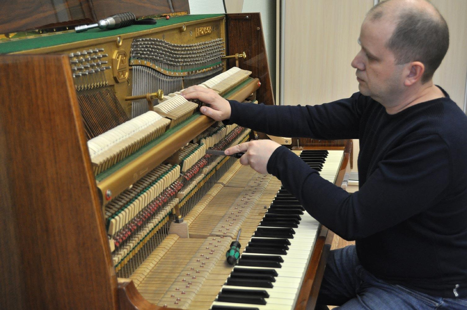 Регулировка механики пианино